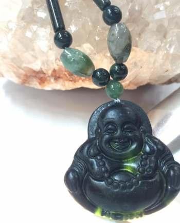 Vòng Cổ Ngọc Agate Mặt Phật Di Lặc Mondavit